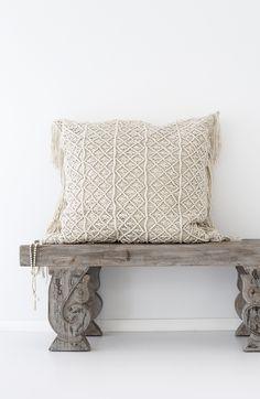 Losari Home & Woman - Kalyana Macrame Cushions losari.com.au #losarihome #losarihomeandwoman #losari #soulmoment #whitehome #whiteonwhite #texture #interiordesign #styling #home #boho #bohohome #tribalhome #tribal #homesweethome #soulmoment #onlineshopping #handmade #ourpeople #treasures #macrame #floorcushions #macramecushions #comfort