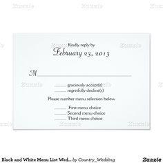 Tropical Wedding Menu White Hibiscus Wedding Invitation Menu Reply