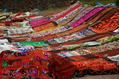 Peru - Cusco Sacred Valley & Incan Ruins 039 - textile handcrafts for sale at Tambomachay by mckaysavage, via Flickr