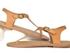 Sandales de cuir grec romain ANANIAS - nouveau STYLE