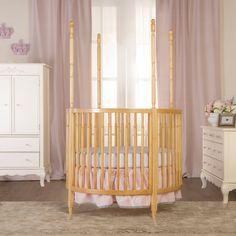 Dream On Me Sophia Posh Circular Crib - Natural