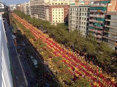 A human flag in Barcelona 11-9-2014