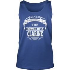 CLARINE - Never underestimate the power of CLARINE - CLARINE name - CLARINE Name Gifts - birthday gifts for CLARINE - CLARINE Shirts - CLARINE T-shirt - Best Sellers #gift #ideas #Popular #Everything #Videos #Shop #Animals #pets #Architecture #Art #Cars #motorcycles #Celebrities #DIY #crafts #Design #Education #Entertainment #Food #drink #Gardening #Geek #Hair #beauty #Health #fitness #History #Holidays #events #Home decor #Humor #Illustrations #posters #Kids #parenting #Men #Outdoors…