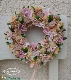 Tavaszi pasztell szett (fabkata) - Meska.hu Floral Wreath, Wreaths, Home Decor, Floral Crown, Decoration Home, Door Wreaths, Room Decor, Deco Mesh Wreaths, Home Interior Design