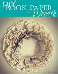 DIY Book Paper Wreath