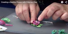 Creating a Sparkle Flower with Polymer Clay  #diyvideo #ChristiFriesen #polyclay…