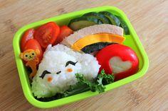 Vegan onigiri bento (with a side of not-vegan cheese! : D heh.)