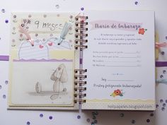 Heli ♥ Papers: Gravidanza ufficiale per Cristina Baby Scrapbook, Mini Albums, Notebook, Bullet Journal, Notes, Baby Shower, Paper, Creative, Scrapbooking