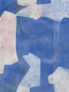 Serge Poliakoff (French, born Russia, 1906-1969), Untitled, c.1960. Tempera on paper, 61 x 46 cm.