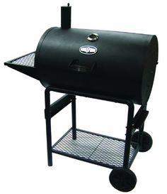 Kingsford Barrel Charcoal Grill, The Kingsford Bronco barrel grill has a 35 burger capacity. The grill is built of heavy duty Kingsford Charcoal, Barrel Grill, Best Smoker, Best Charcoal Grill, Bbq Charcoal, Portable Grill, Cooking Temperatures, Built In Grill, Bbq Tools