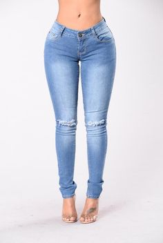 I Knee You Now Jeans - Medium Wash from Fashion Nova. Shop more products from Fashion Nova on Wanelo. Mid Rise Skinny Jeans, Skinny Fit Jeans, High Jeans, High Waist Jeans, Ripped Jeans, Women's Jeans, Ankle Jeans, Trendy Outfits, Fashion Outfits