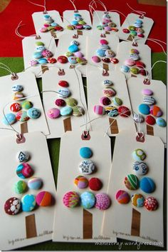 Gallery crafts |christmas tree cards buttons