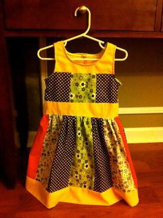 baby clothes patchwork dress