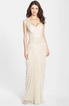 Tadashi Shoji Embellished Lace & Tulle Gown available at #Nordstrom