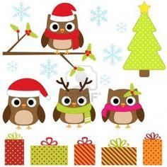 Google Image Result for http://us.123rf.com/400wm/400/400/yulia87/yulia871211/yulia87121100003/16256918-cute-christmas-vector-set-with-funny-owls.jpg