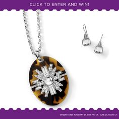 A different prize each day ... the Gallery necklace and Privy earrings.