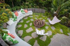 Malvern Project - Ben Scott Garden Design   Outdoor fire pit