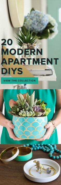 20 Ways to Add More Character to Any Small Space   From modern apartment DIY ideas, terrarium garden ideas to organization hacks