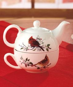 Cardinal Porcelain Tea for 1 Set Holiday Christmas Décor abc distributing http://www.amazon.com/dp/B00GE1XD9Y/ref=cm_sw_r_pi_dp_r6Msub1B795V3
