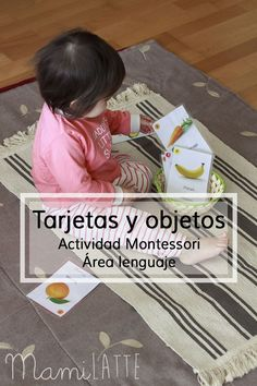Tarjetas y objetos (actividad Montessori) y talleres presenciales Montessori en Lleida   MamiLatte