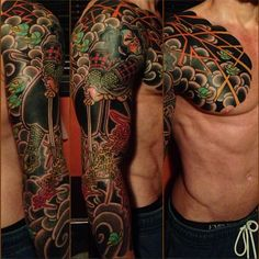 """from Japan """"yellow Sol levante!"""" gorgeous tatto on gorgeous Italian BodyMan http://love5musthave.blogspot.it"""