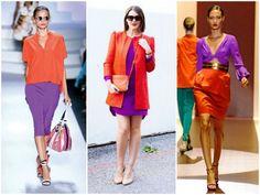 Главное при сочетании оранжевого с фиолетовым – подбирать цвета с одинаковыми характеристиками, то есть они должны быть одной насыщенности, яркости, глубины и т.п.