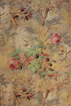 From Antique Vintage European Textiles, ebay. c1890 Teal Pink Fabric