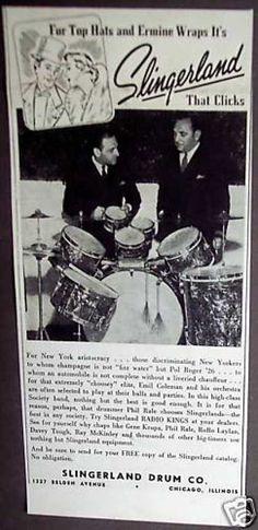 Original Slingerland Drums 1938