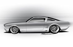 Vendetta - Ragle Design Now that's a great design! Ford Mustang, Mustang Fastback, Mustang Cars, Chip Foose, Mustang Drawing, Car Drawing Pencil, Car Animation, Gtr Car, Car Tattoos