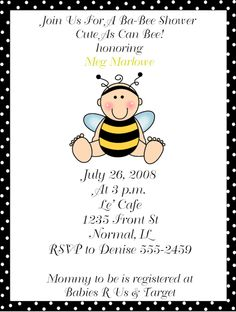 Bumble Bee Baby Shower Supplies - Bing Images