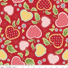 Apple of my Eye Red Baskets 1 yard  Riley Blake by DragonflyRealm, $7.02