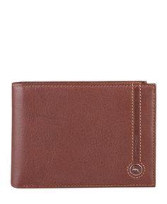 Gattinoni  - collezione uomo - portafoglio in pelle con logo. - portacarte di credito, portadocumenti, porta monete e po - Portafoglio uomo Marrone