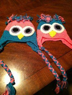 Girls owl hats