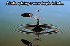 A bullet splitting...