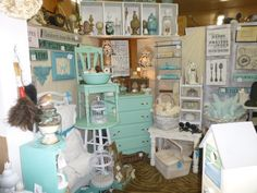 vintage booth ideas | This is the view looking into the booth from the backside, the dresser ...