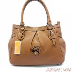 2014 New MK2453 Michael Kors Logo Signature Large MARRON Tote Sortie