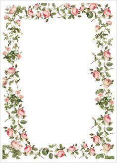 Pin by muse printables on page borders and border clip art laminas y trabajos con flores leaf borderfloral mightylinksfo