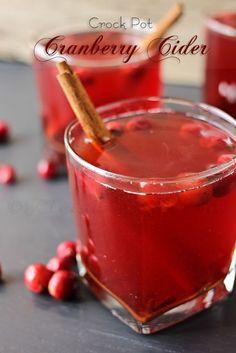 25+ Thanksgiving Recipes - Fake Ginger - Crock Pot Cranberry Cider