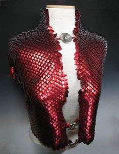 3,000 scales, 6,000 rings. beatiufull scale maille