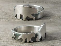 This listing is for my Mama bear ring, or aunt ring, or grandmothers ring, or a ring for those that just love bears. *This ring is Made to Order, and takes