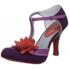 Candice Purple T Strap Heeled Vintage, Quirky-Ruby Shoo