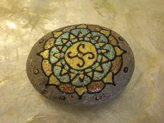 Gratitude Stone, Yellow & Green