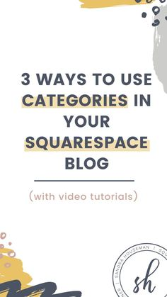 Squarespace tips, website tips