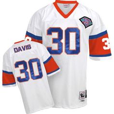 limited orange team color nfl jersey free shipping authentic mitchell and ness mens terrell davis white jersey denver broncos road nfl throwback