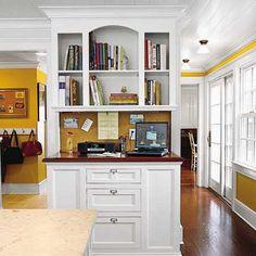Kitchen organization station.