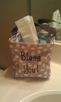 Have fun dressing up your tissue holder with this fun Littles Carryall