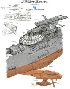 Rocketumblr | 小林誠 Makoto Kobayashi 宇宙戦艦ヤマト 復活篇 Space...