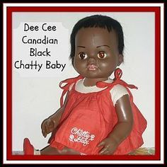1960's Dee Cee Black Chatty Baby Doll - Canadian Issue - VHTF! http://www.dollshopsunited.com/stores/dolllighted/items/1304133/1960s-Dee-Cee-Chatty-Baby-Doll-Canadian-Issue-VHTF #dollshopsunited