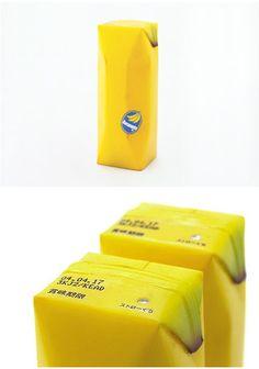 Design by Kenya Hara  #japan #banana #juicebox