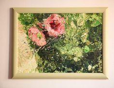 Painting Flowers underwater by LesjaArt on Etsy